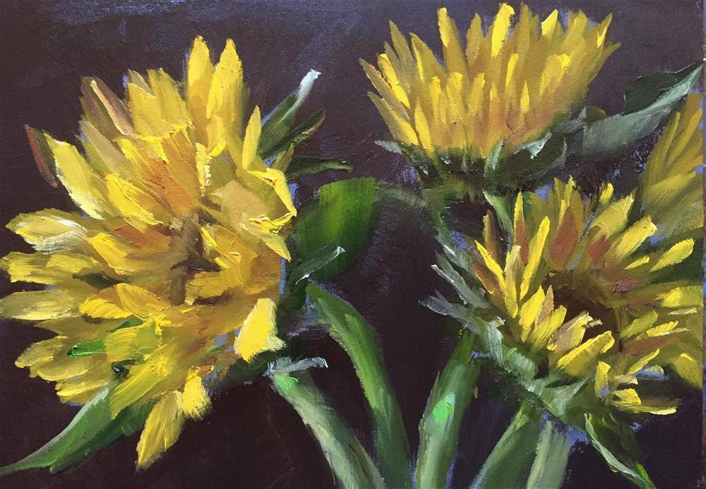 """Sunflowers"" original fine art by Gary Bruton"