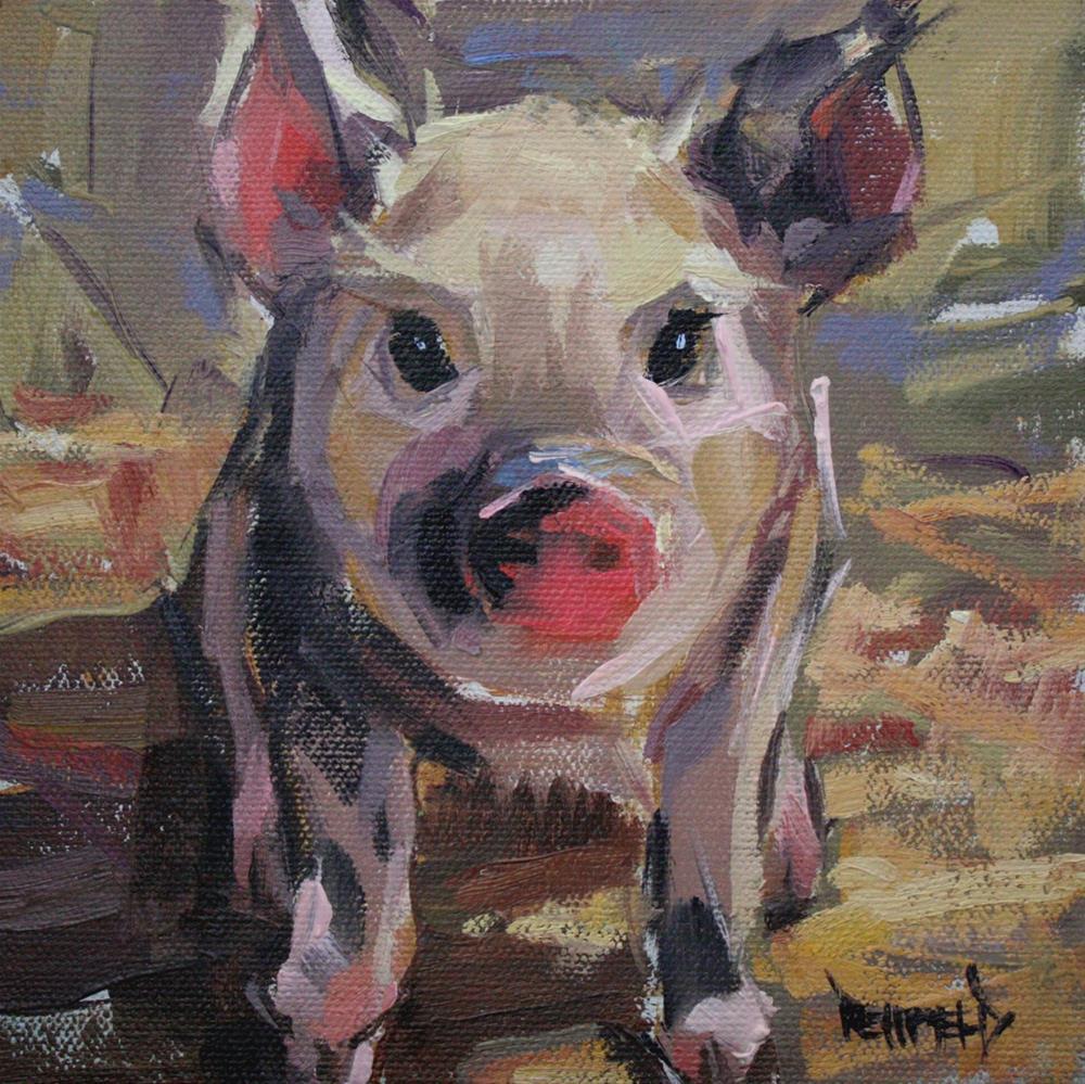 """Spotted Piggy"" original fine art by Cathleen Rehfeld"