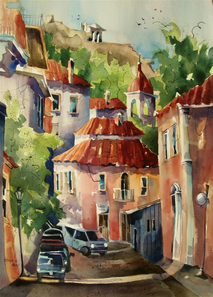 """""""Old Athens"""" original fine art by Jinnie May"""