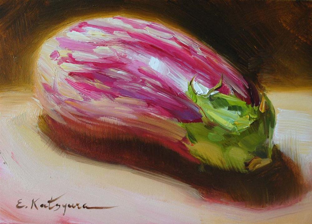 """Dominican Eggplant"" original fine art by Elena Katsyura"