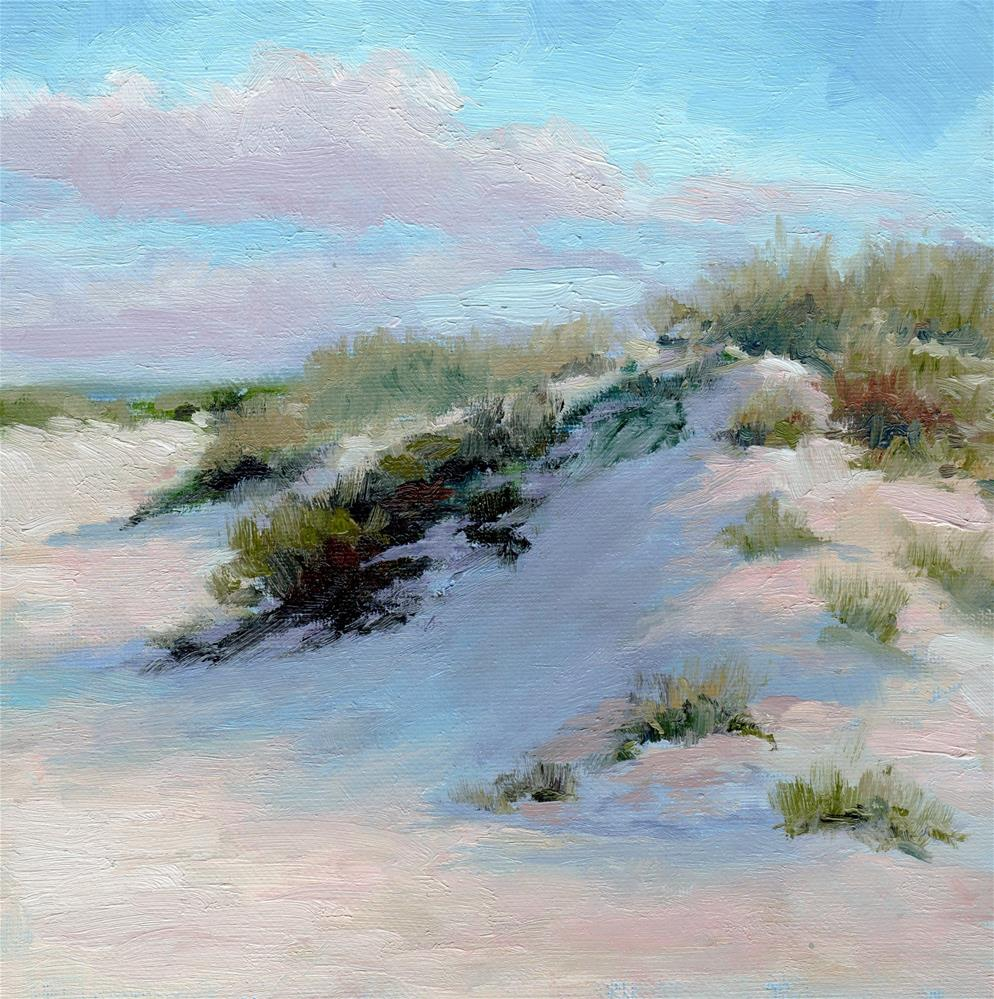 """Dune Walk"" original fine art by Kathy Bodamer"
