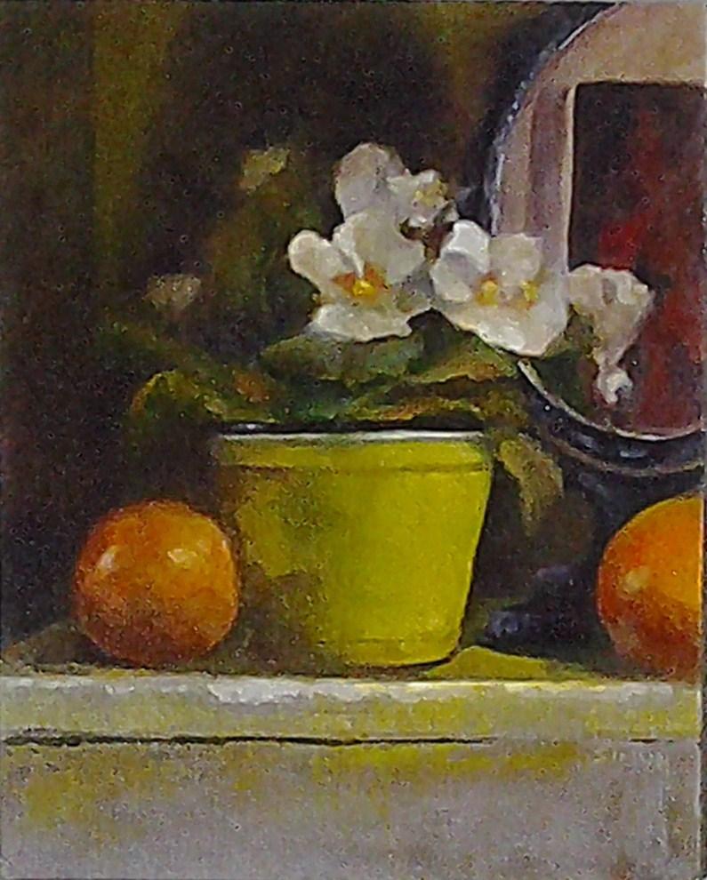"""All Prim and Rose-Like"" original fine art by A.K. Simon"