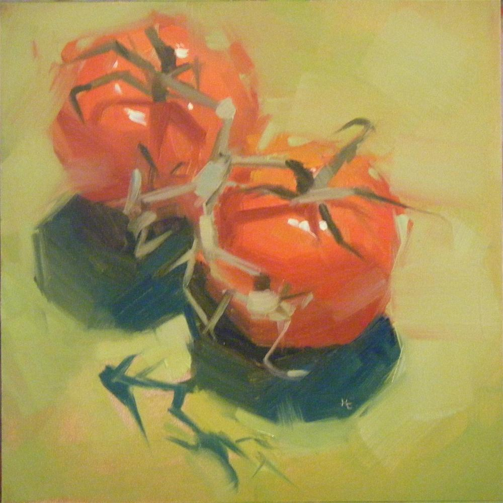 """TWO-MATOES"" original fine art by Helen Cooper"