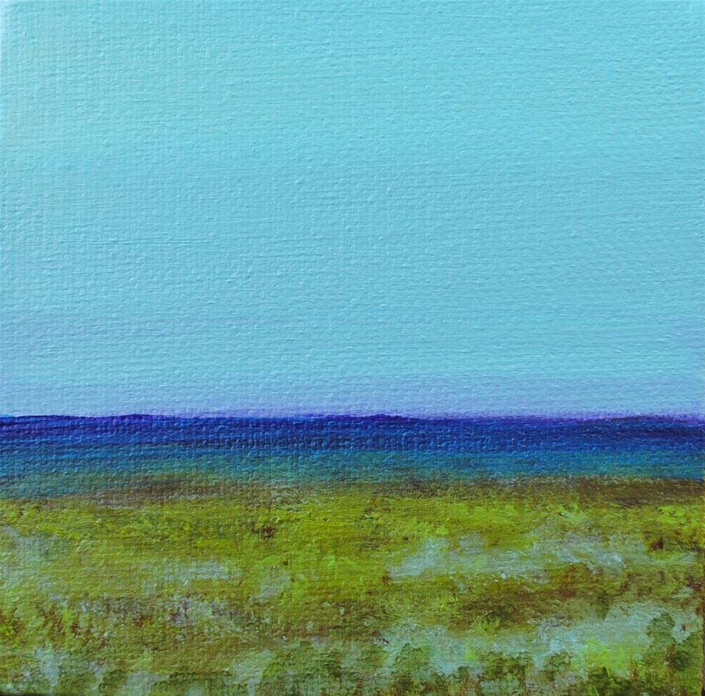 """""""Marsh Field"""" original fine art by Eva Art"""