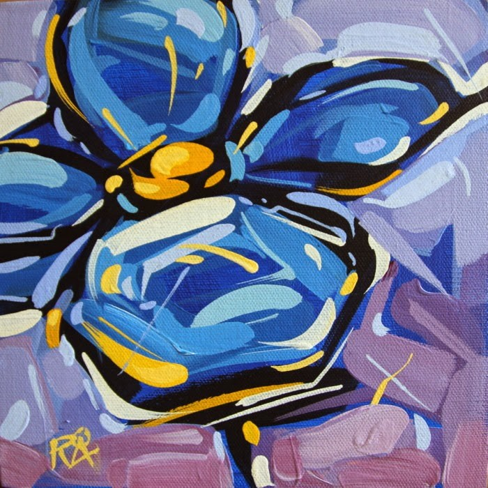"""""""Flower Abstraction 112"""" original fine art by Roger Akesson"""