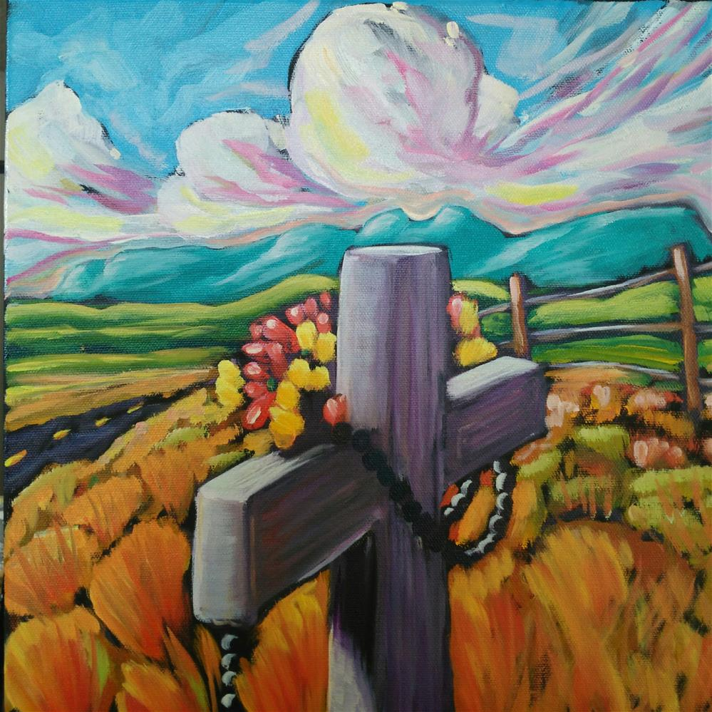"""Watcher by the road"" original fine art by Robyn Wellman"