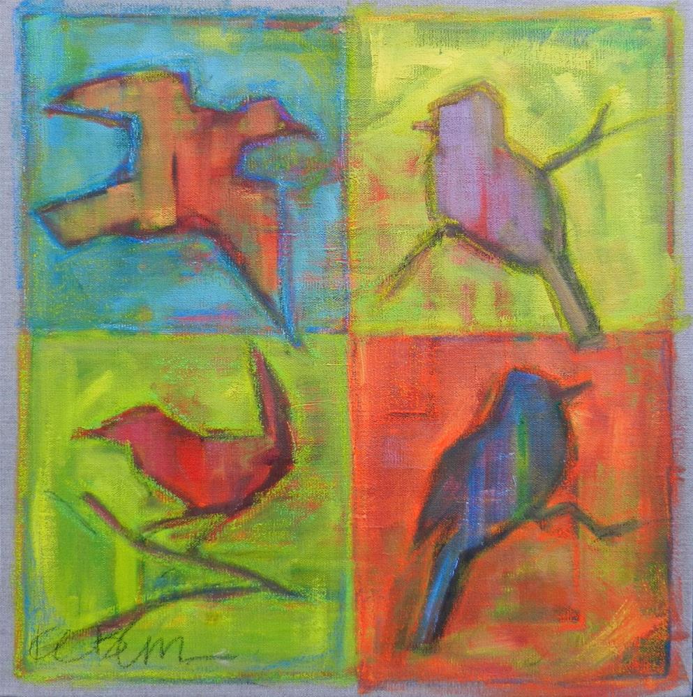 """Birds Squared"" original fine art by Kathy Broyles"