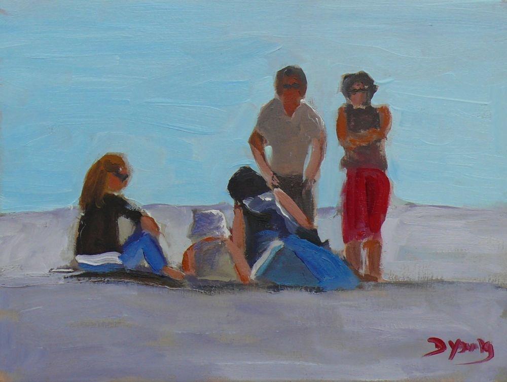 """Willows Beach Scene"" original fine art by Darlene Young"
