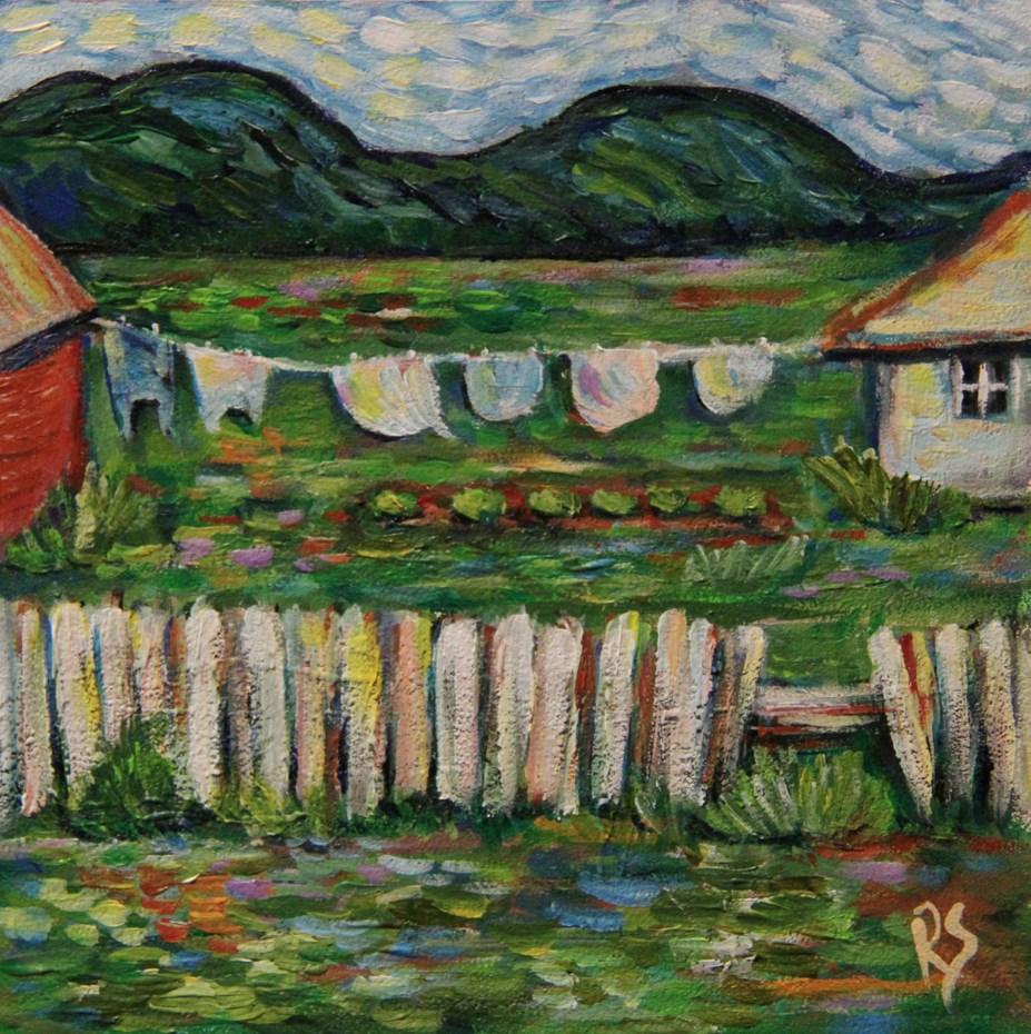 """The Clothesline"" original fine art by Roberta Schmidt"