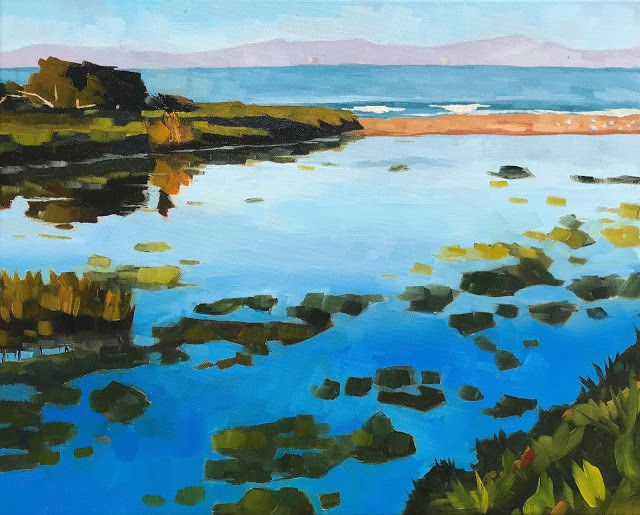 """Carpinteria Creek Outlet - 16x20"" original fine art by Sharon Schock"