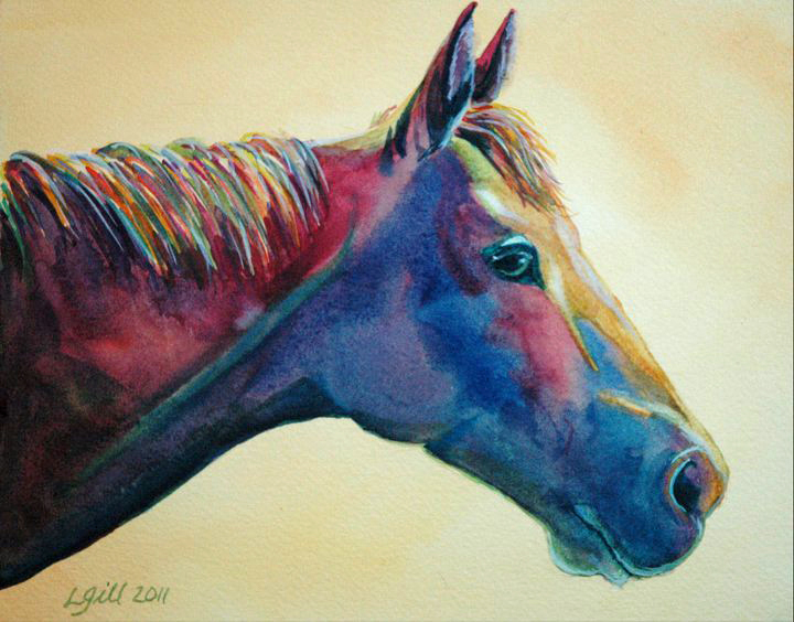 """""""Paint Pony 9 - Pansy"""" original fine art by Lyn Gill"""
