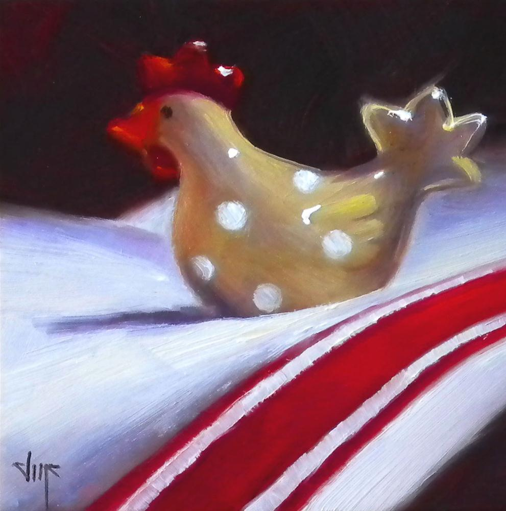"""""""The Chick in Red"""" original fine art by Darla McDowell"""