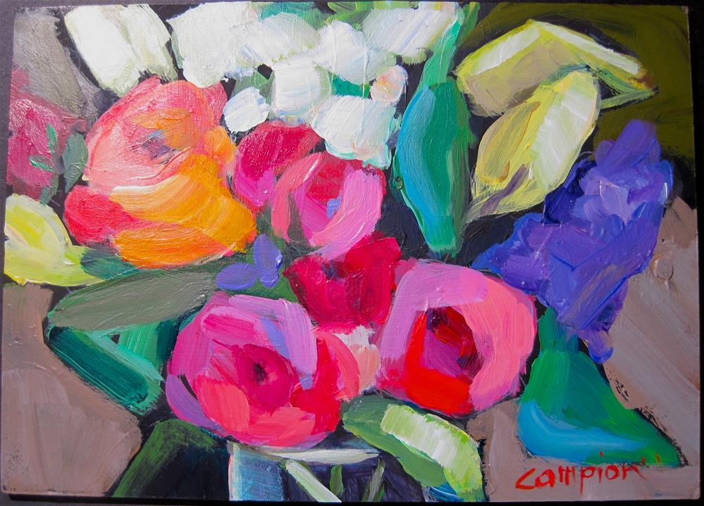 """298. Cheerful"" original fine art by Diane Campion"