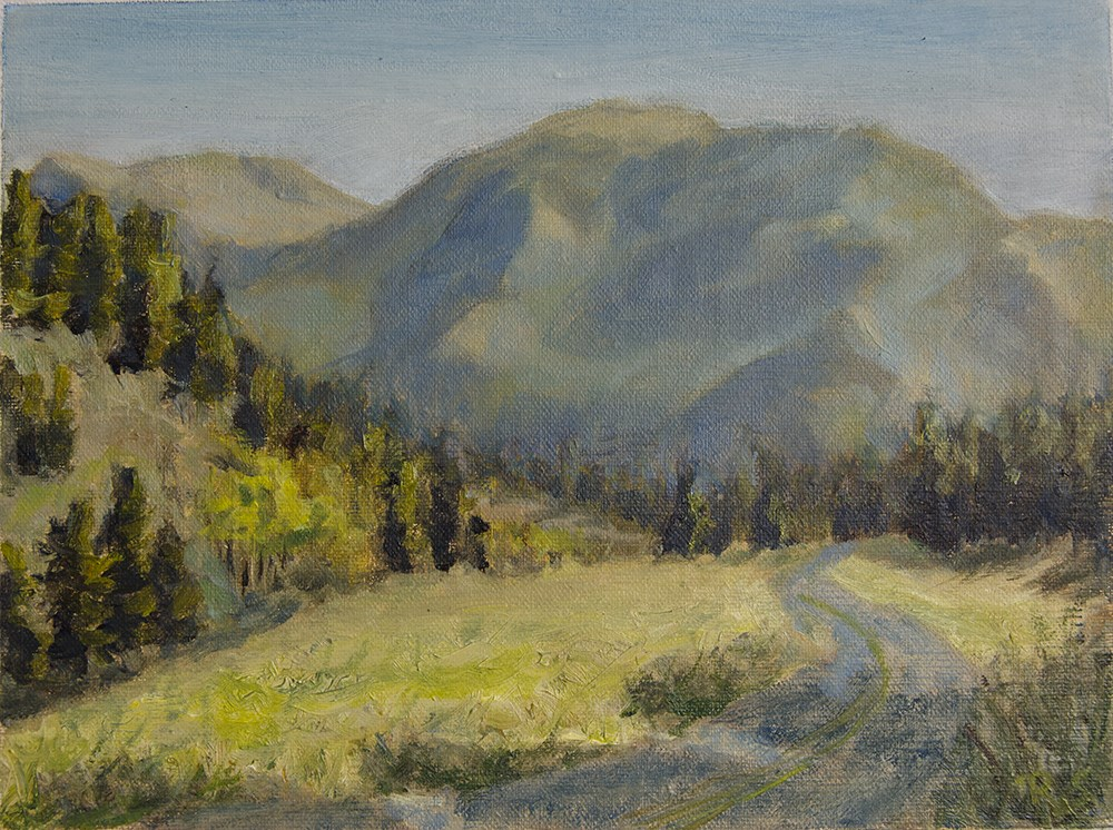 """""""Road in Mountain Park"""" original fine art by Rachel Steely"""