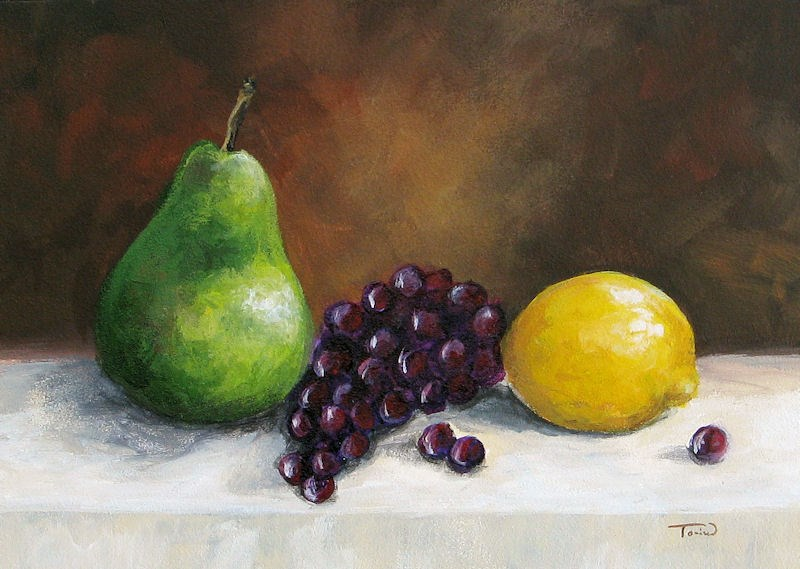 """Pear Study with Lemon"" original fine art by Torrie Smiley"