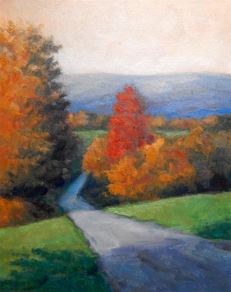 """Autumn in the Hills"" original fine art by Lisa Kyle"