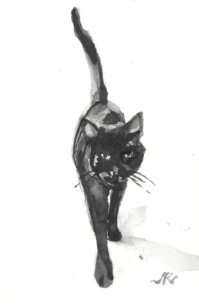 """Daily Cat 192"" original fine art by Jean Krueger"