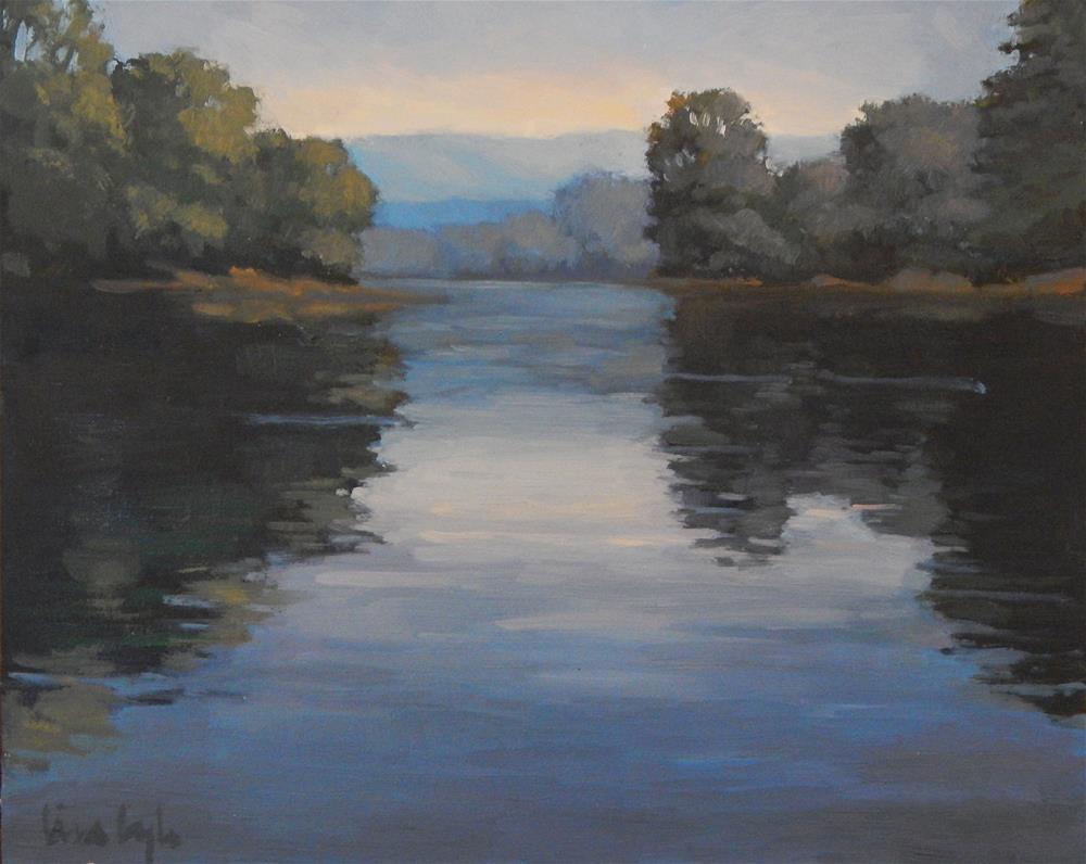 """""""River Blues"""" original fine art by Lisa Kyle"""
