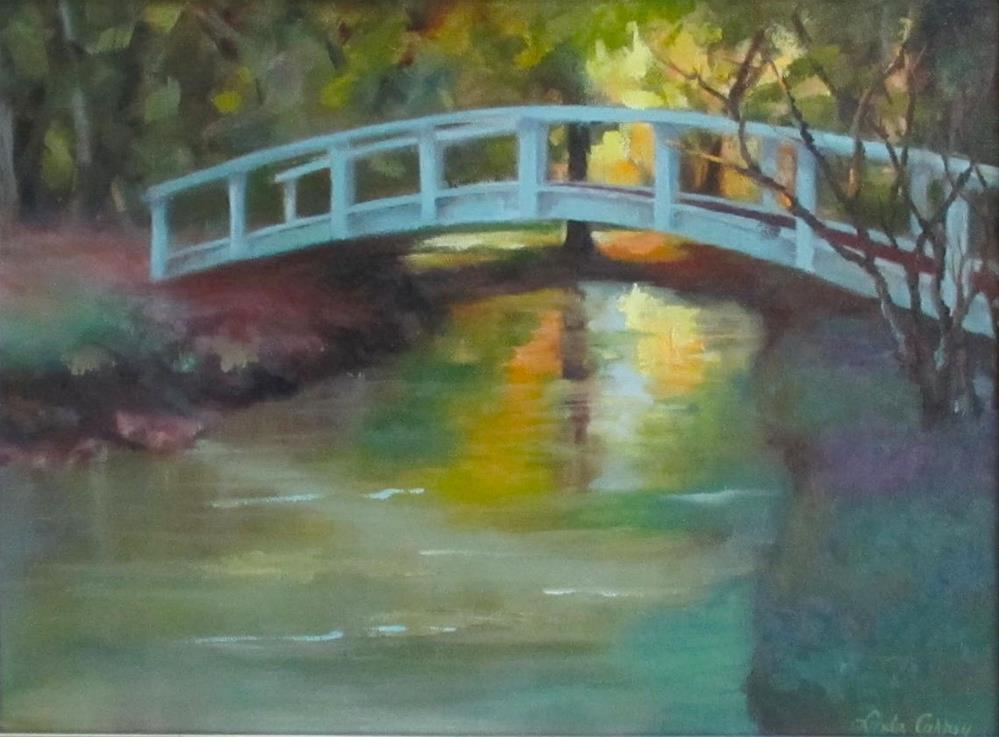 """Reflections of New Harmony"" original fine art by Linda Carney"