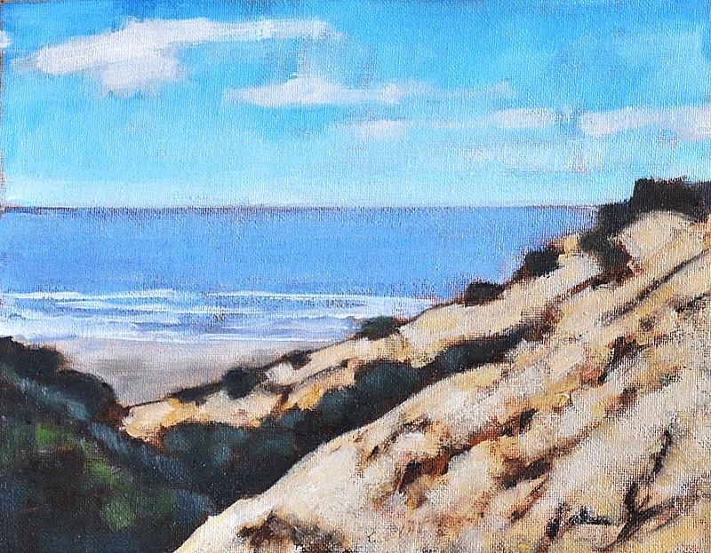 """Pacific Ocean Seascape- La Jolla Cliffs"" original fine art by Kevin Inman"
