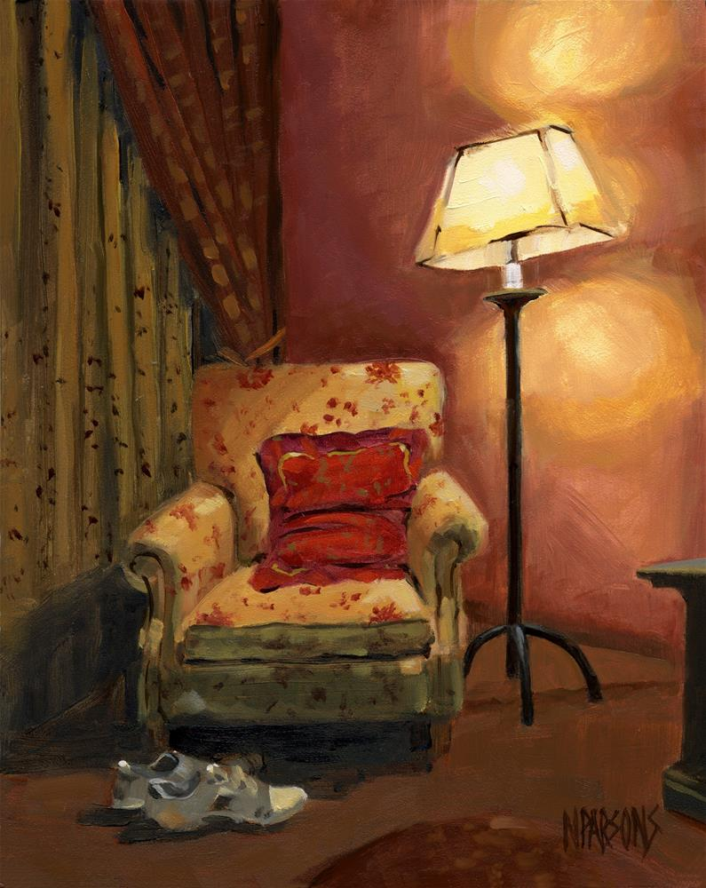 """""""SOLD - And sit right down"""" original fine art by Nancy Parsons"""