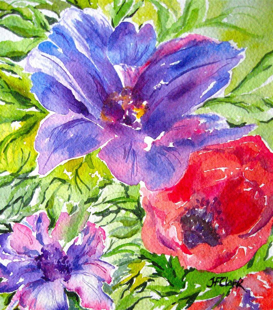 """Floral Kaleidoscope"" original fine art by Judith Freeman Clark"