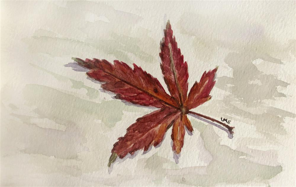 """The Leaves of Matsumoto 1"" original fine art by Ulrike Miesen-Schuermann"