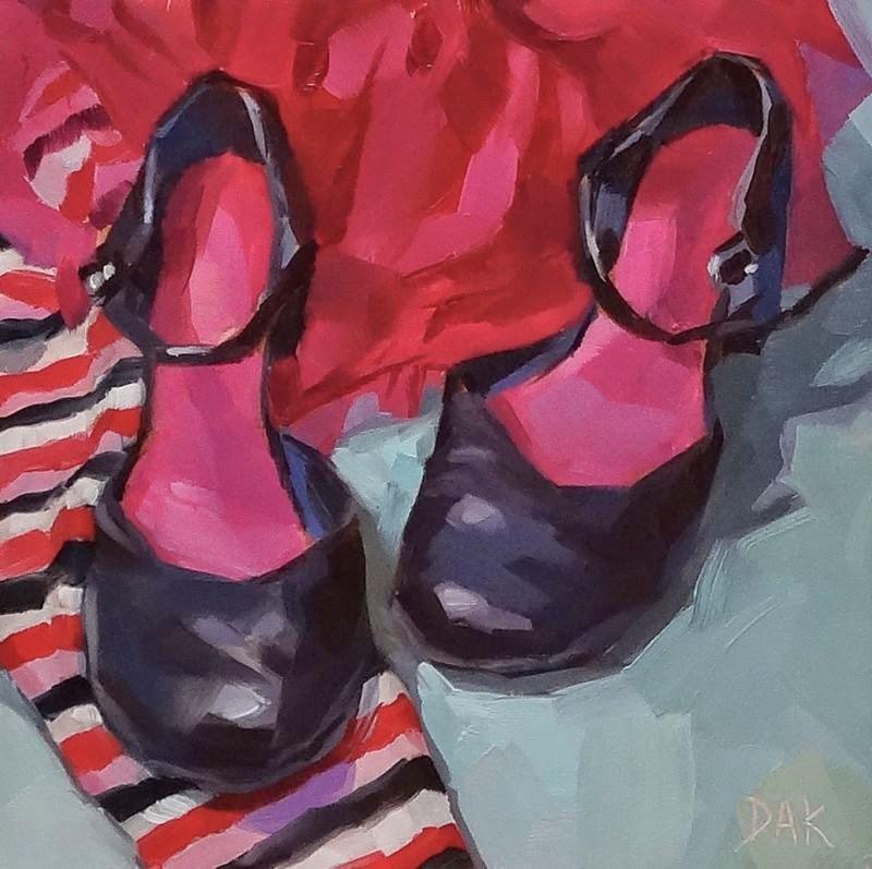 """Party's Over"" original fine art by Deborah Ann Kirkeeide"