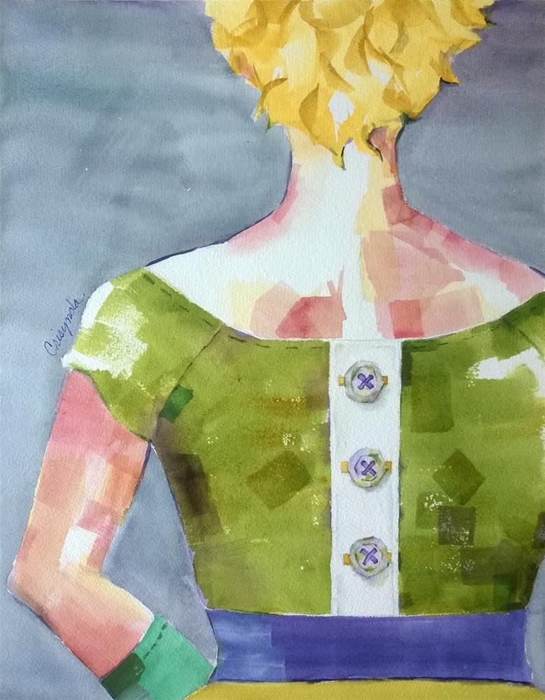 """Button Me Up"" original fine art by Crisynda Buss"
