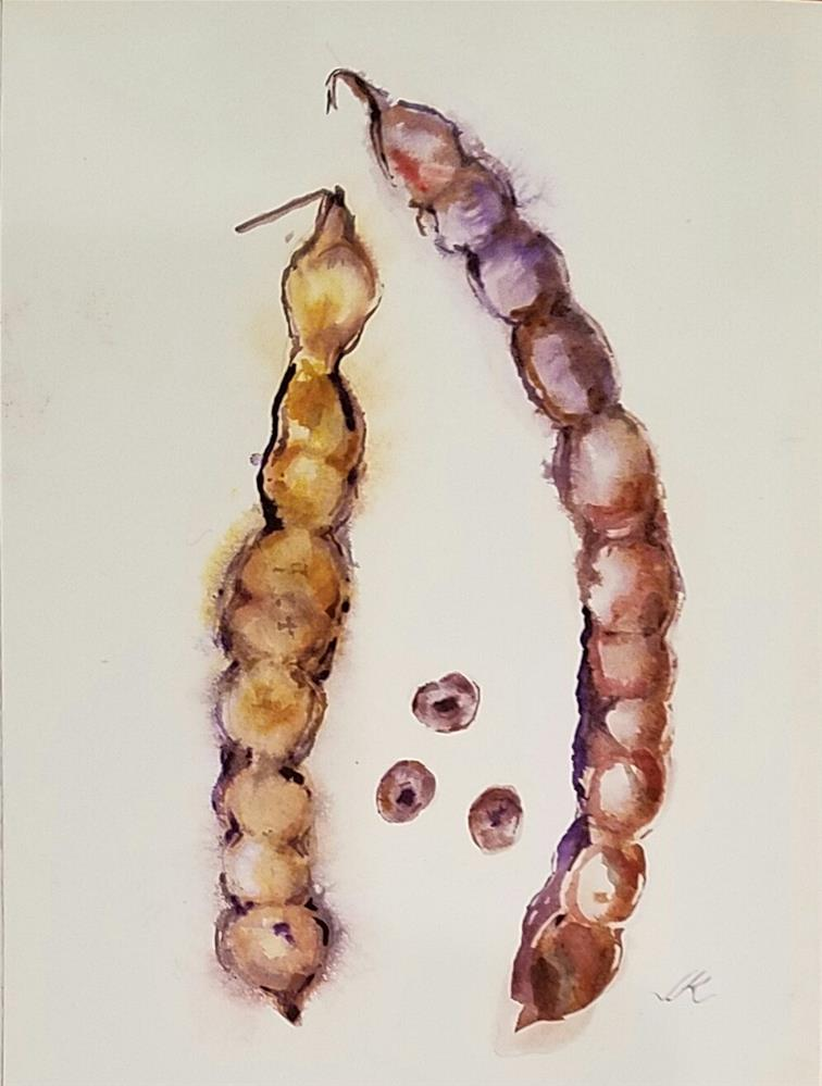 """Seeds and Pods"" original fine art by Jean Krueger"