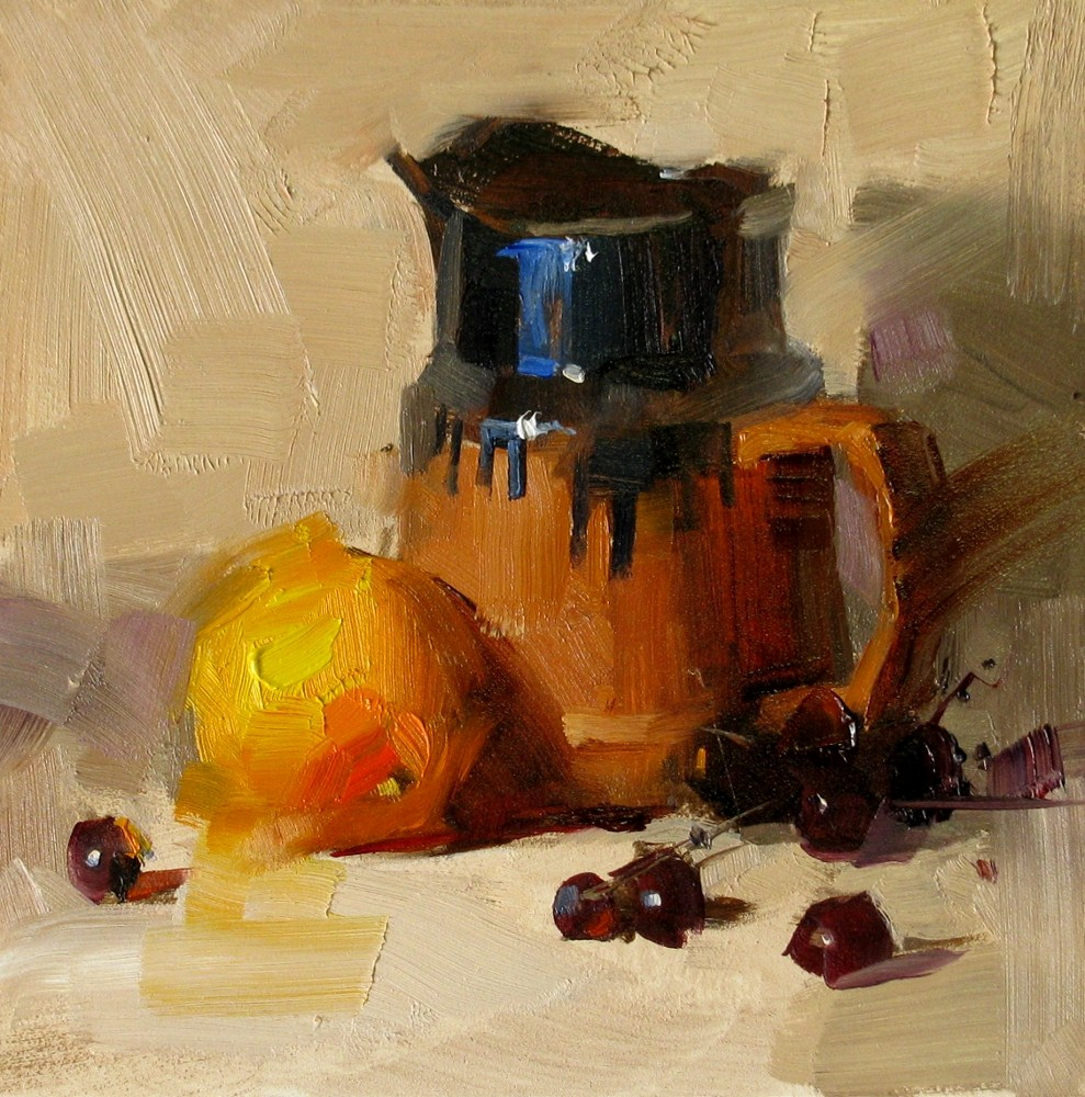 """""""Glazed Pottery"""" original fine art by Qiang Huang"""