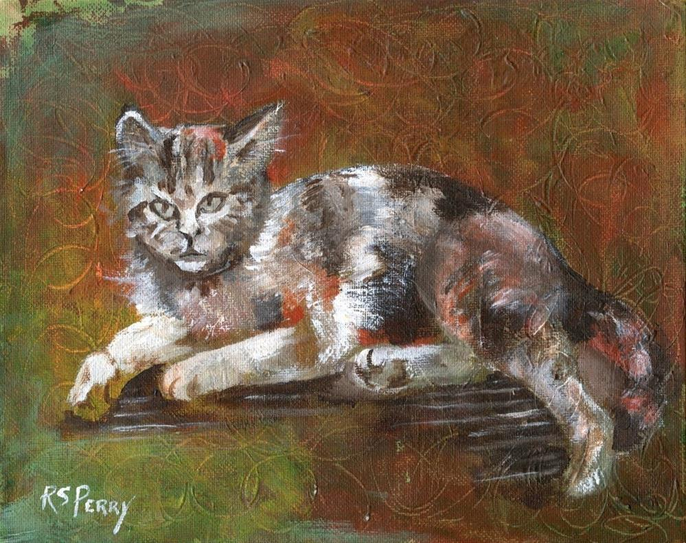 """Calico Cat"" original fine art by R. S. Perry"