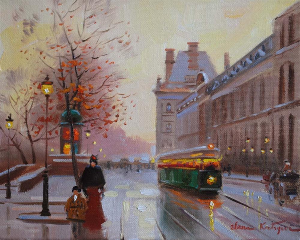 """I like Paris in November"" original fine art by Elena Katsyura"