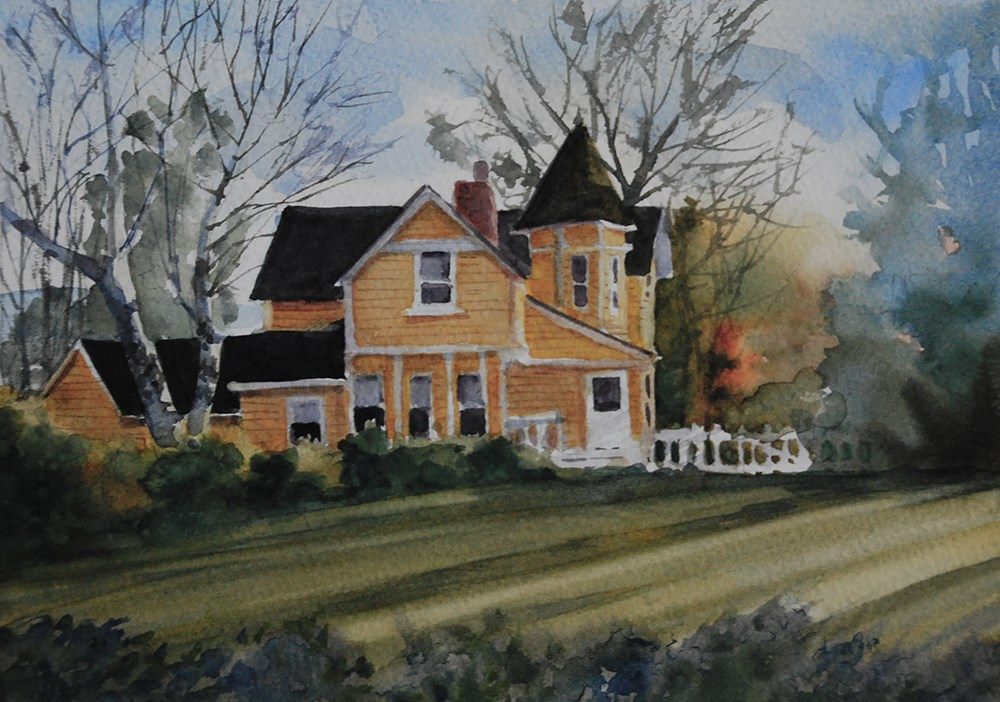 """""""Yellow House"""" original fine art by Mary Anderson"""