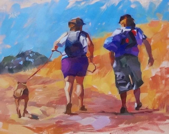 """California Trek"" original fine art by Deborah Ann Kirkeeide"