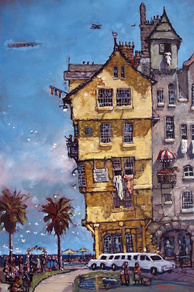 """Corolla Wedding House"" original fine art by Rick Nilson"