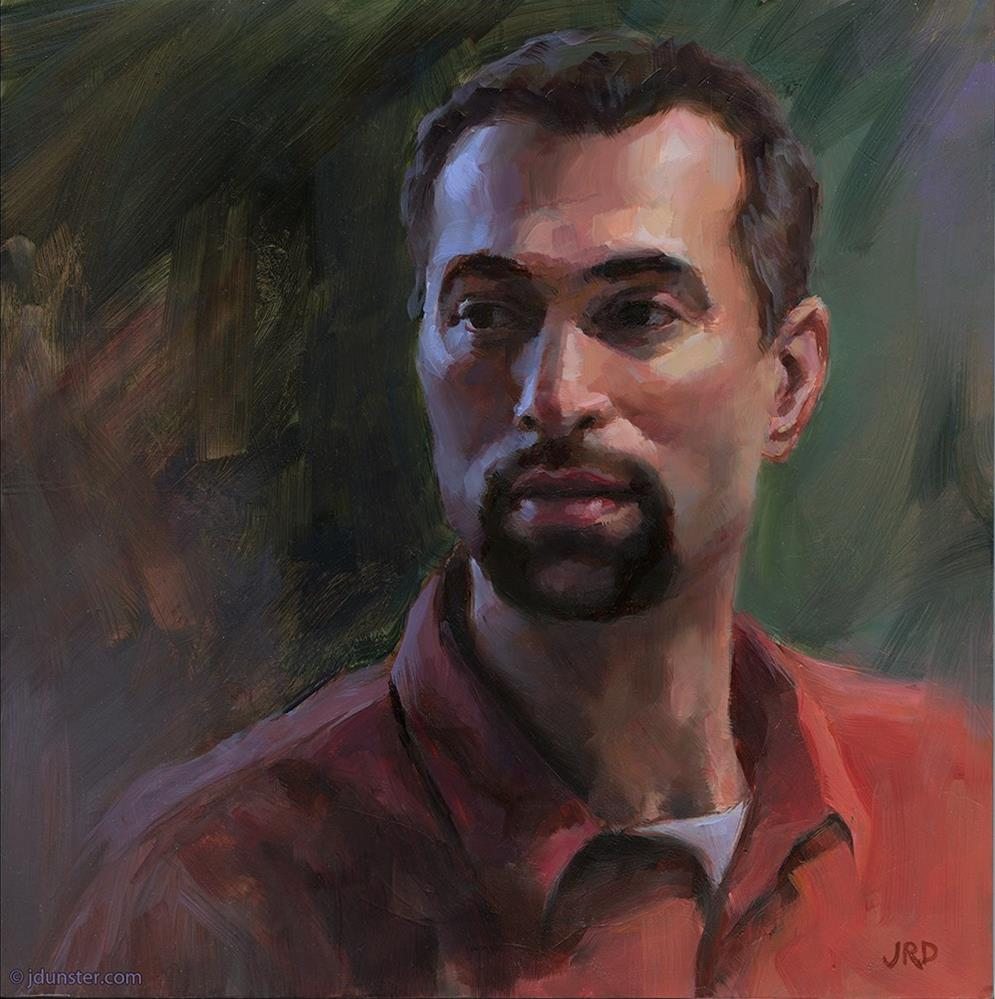 """The Greek Artist"" original fine art by J. Dunster"