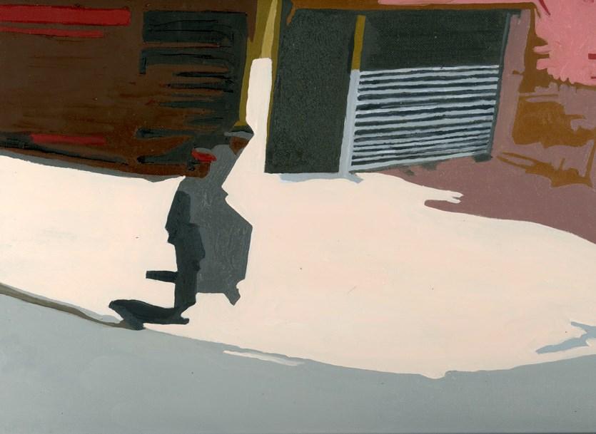 """CAUGHT ON THE CORNER"" original fine art by Nancy Herman"