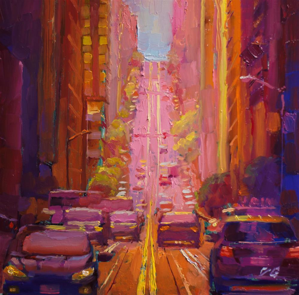 """SF No. 5"" original fine art by Dimitriy Gritsenko"