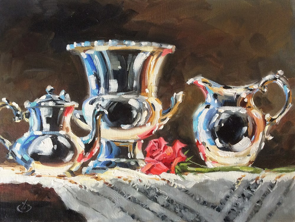 """CLASSIC STILL LIFE"" original fine art by Tom Brown"