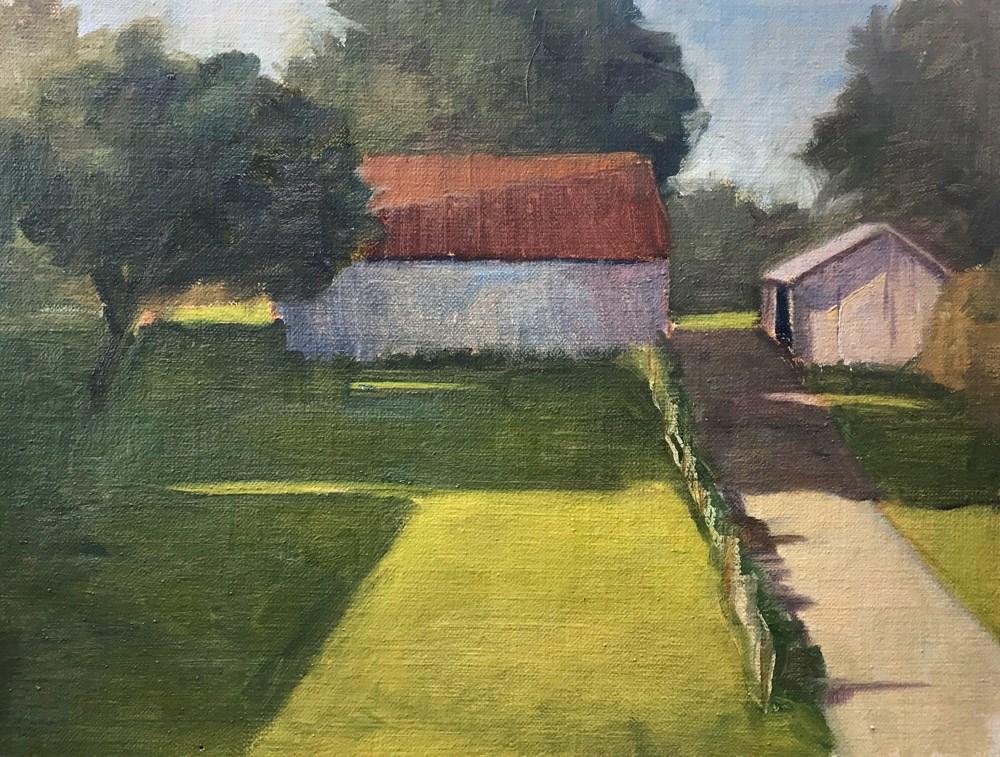 """""""Barn"""" original fine art by Donna Dumont"""