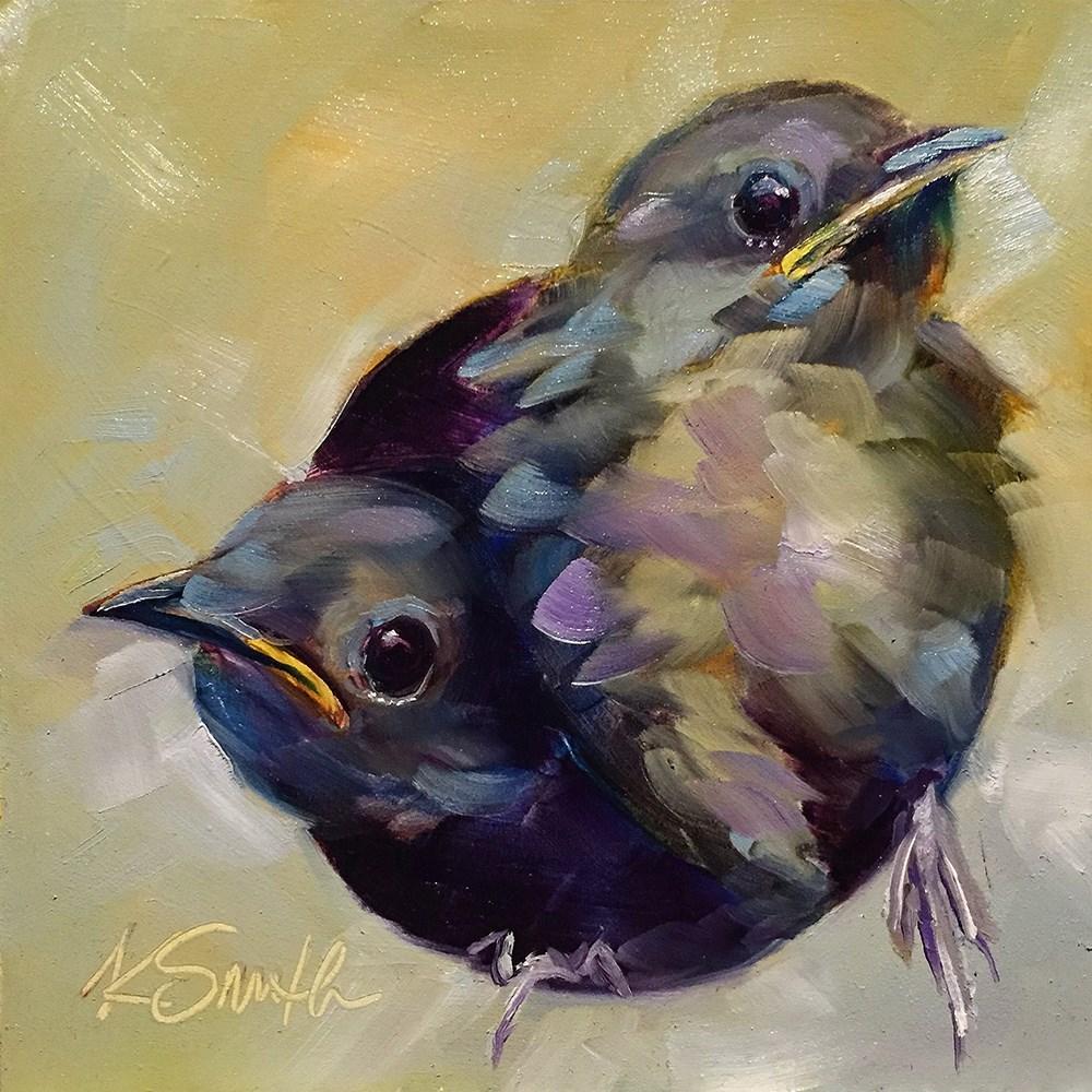 """birds of a feather"" original fine art by Kim Smith"