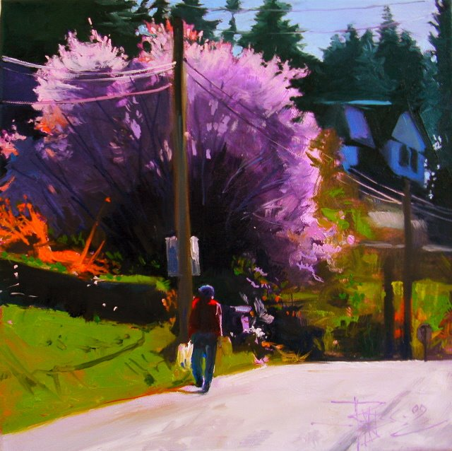 """""""Spring Day  landscape, oil painting"""" original fine art by Robin Weiss"""