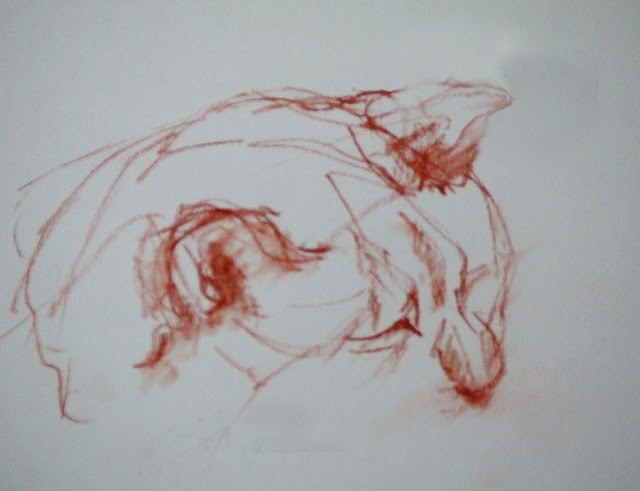 """""""quick sketch"""" original fine art by Mitsuru Cope"""