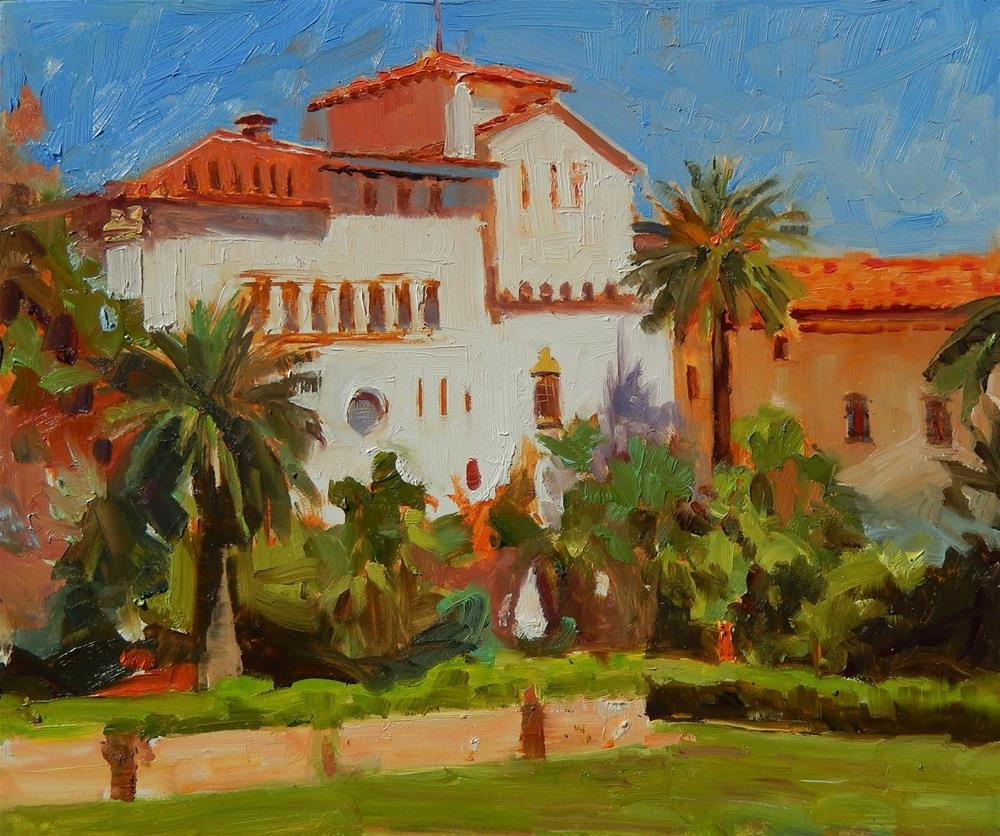 """Santa Barbara Courthouse  California oil painting by Robin Weiss"" original fine art by Robin Weiss"