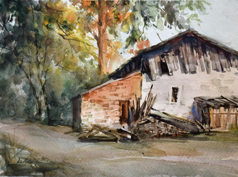 """The Country Old House"" original fine art by Kelvin Lei"