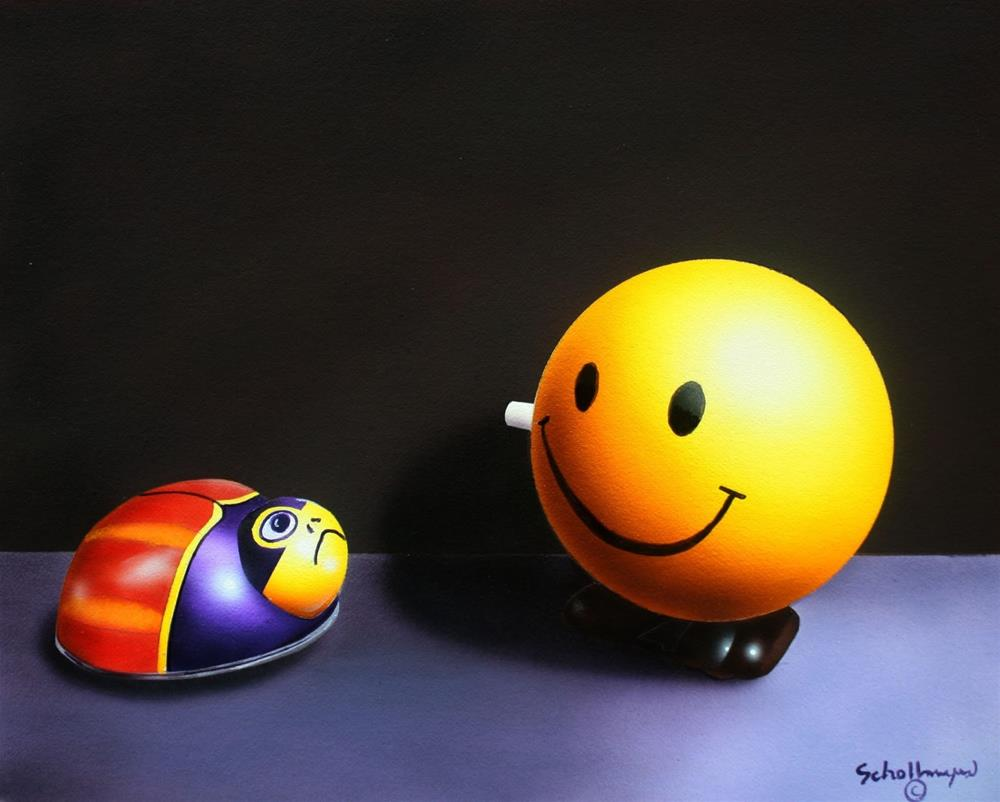 """""""What's So Good About It?"""" original fine art by Fred Schollmeyer"""