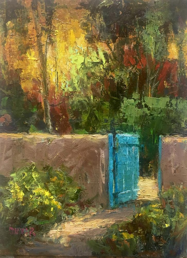 """Santa Fe Gate"" original fine art by Julie Ford Oliver"