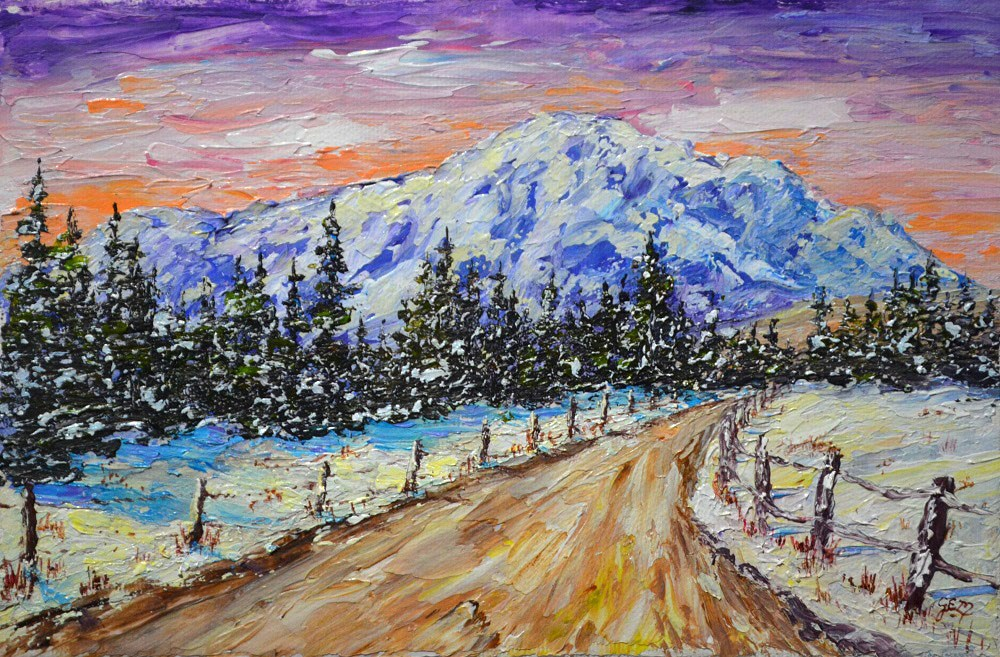 """Rainier Road"" original fine art by Gloria Ester"