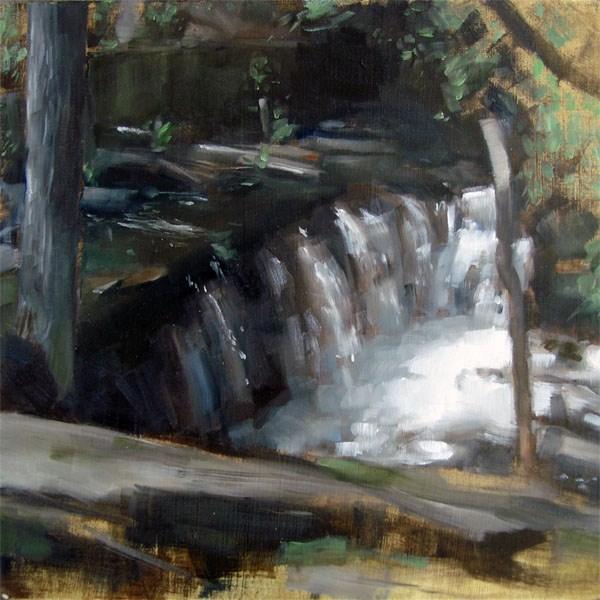 """Broadmoor Falls, Natick MA (no.64)"" original fine art by Michael William"